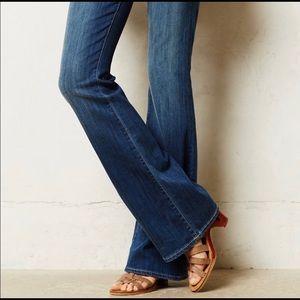 Paige Hidden Hills High Rose Bootcut Jeans (short)